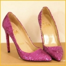 Christian Lonboutin rose pink leather shoes