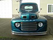 1949 FORD f100 Ford F-100 teal/gray cloth seats
